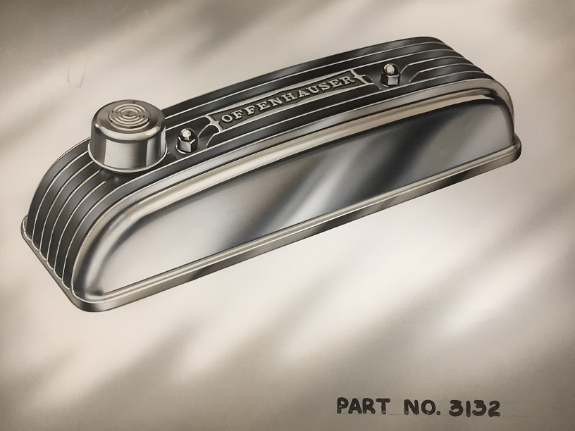 Triumph Finned Aluminum Valve Cover offenhauser part # 3132