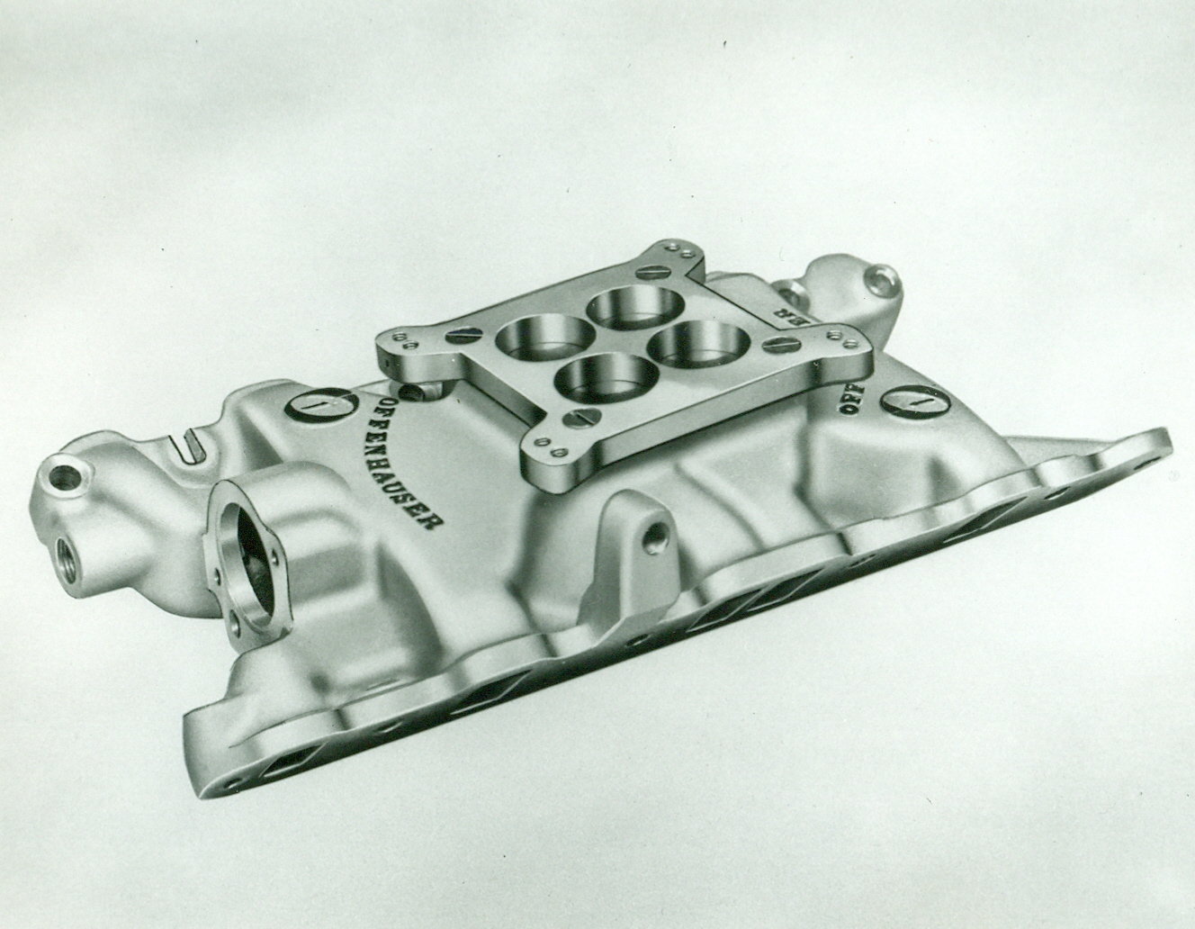 Offenhauser #5165 Oldsmobile F85 & Buick Special Single Quad Intake Manifold