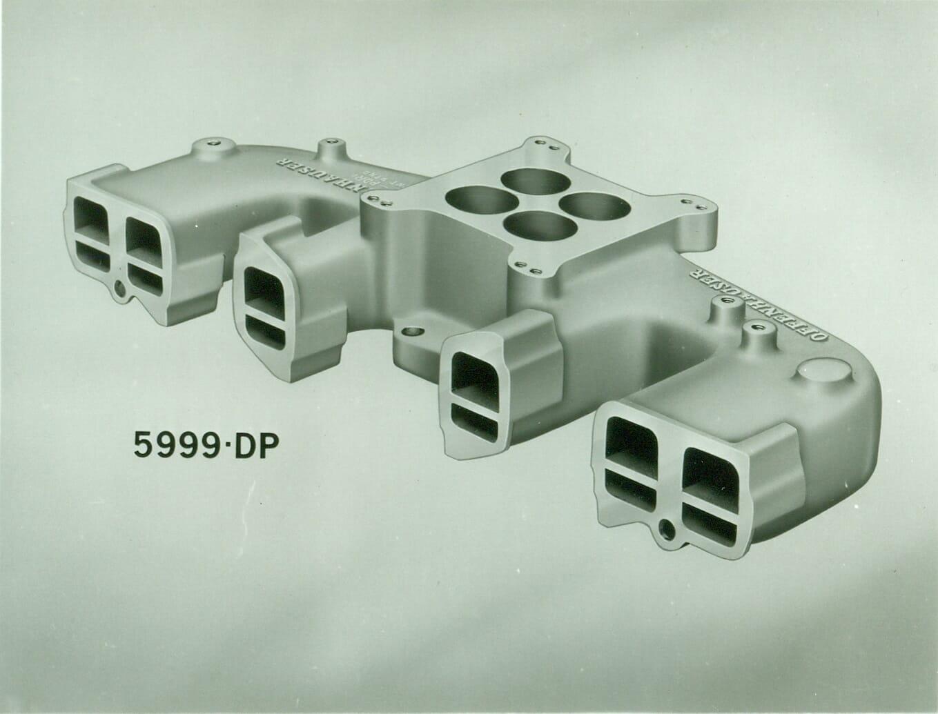 Offenhauser #5999DP Jeep/AMC 6 Cylinder Dual Port Manifold