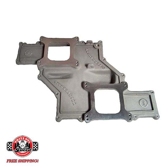 Offenhauser #5903 Chevrolet 327-400 Small Block Low Profile Ram Intake  Manifold Dual Quad Top